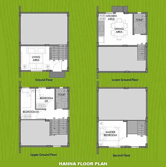 Hanna Floor Plan House and Lot in Lima