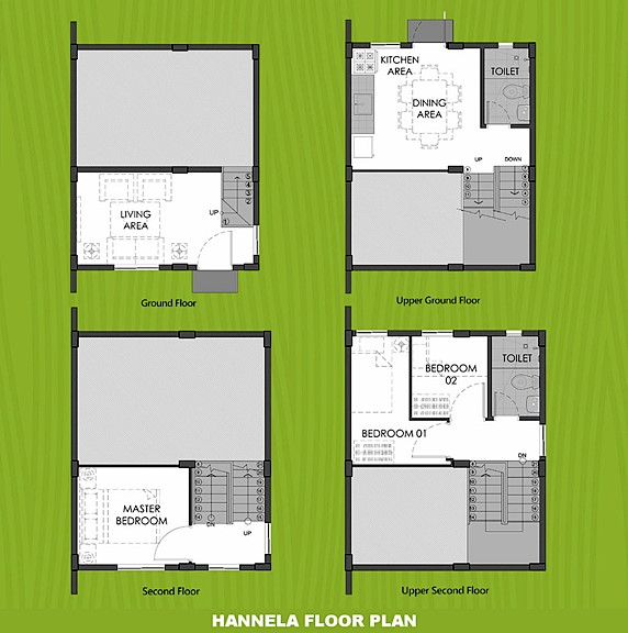 Hannela Floor Plan House and Lot in Lima