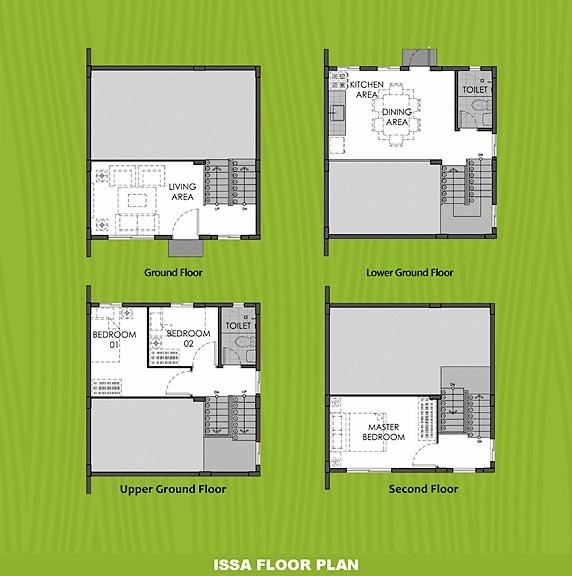Issa Floor Plan House and Lot in Lima