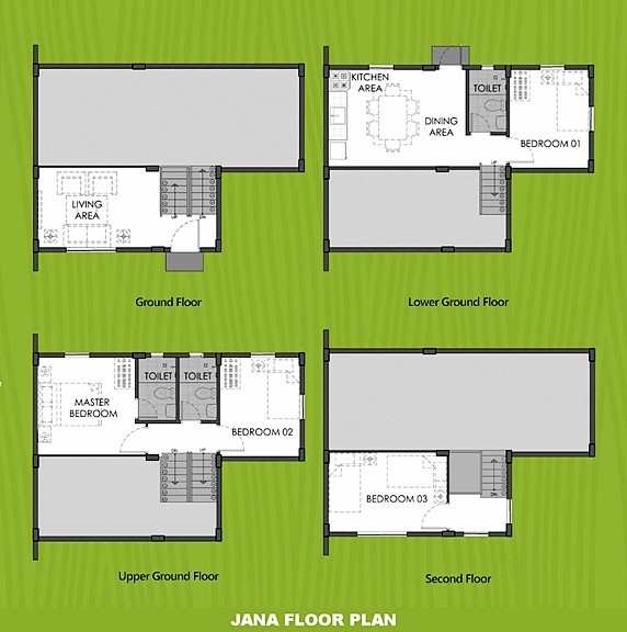 Janna Floor Plan House and Lot in Lima