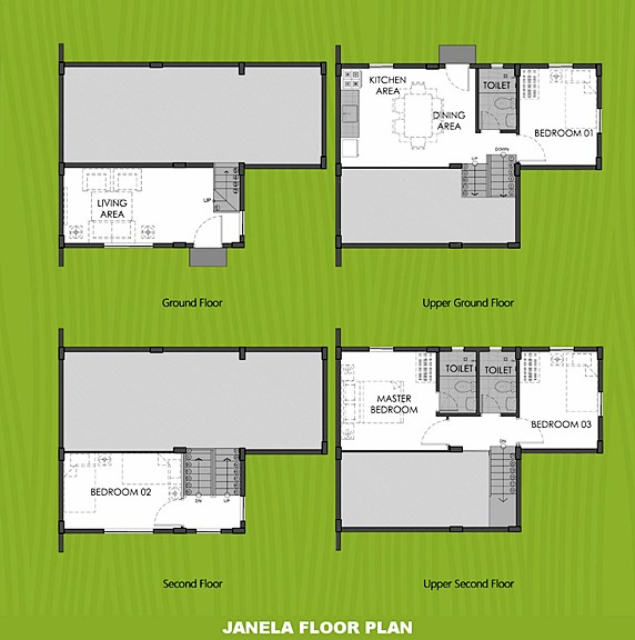 Janela Floor Plan House and Lot in Lima