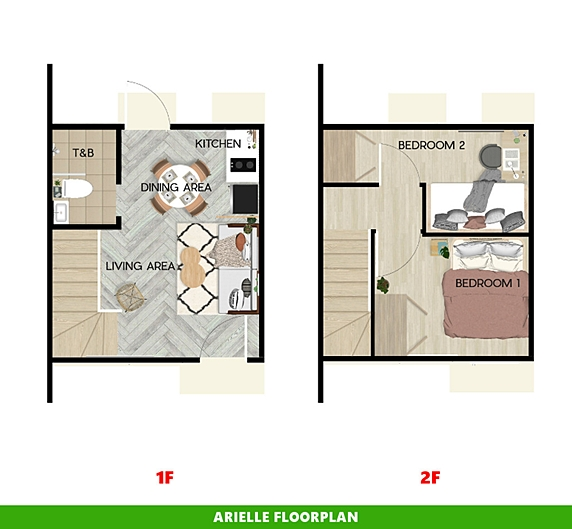 Arielle Floor Plan House and Lot in Lima