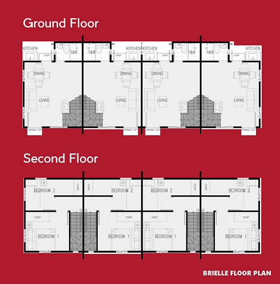 Brielle Floor Plan House and Lot in Lima