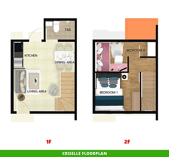 Criselle Floor Plan House and Lot in Lima