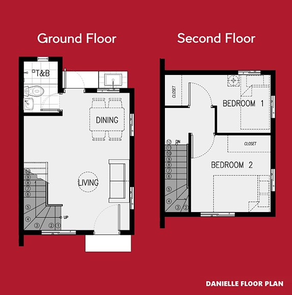 Danielle Floor Plan House and Lot in Lima