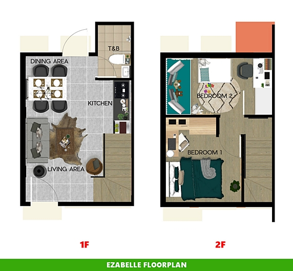 Ezabelle Floor Plan House and Lot in Lima