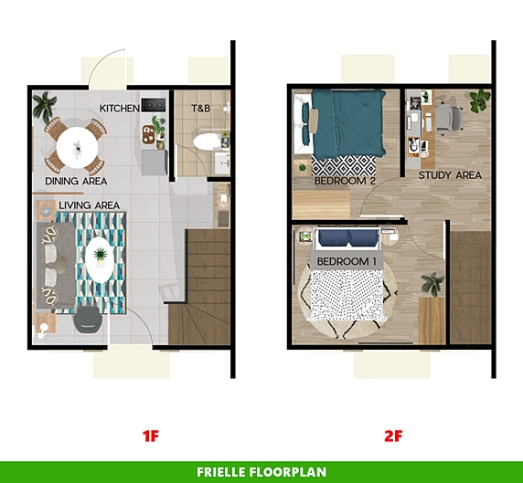 Frielle Floor Plan House and Lot in Lima